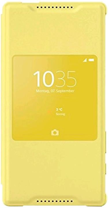 Sony SCR44 pouzdro pro Xperia Z5 Compact, žlutá
