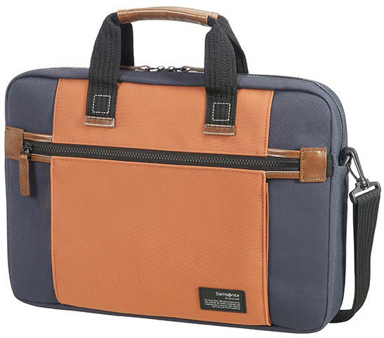 "Samsonite SIDEWAYS LAPTOP BAG 15.6"" BLUE/ORANGE"