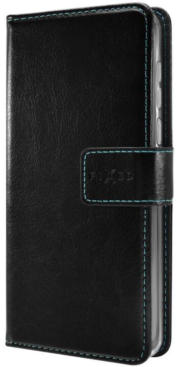FIXED Opus pouzdro typu kniha pro Motorola Moto E4, černé