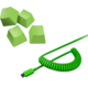 Razer PBT Keycap + Coiled Cable Upgrade Set, Razer Green