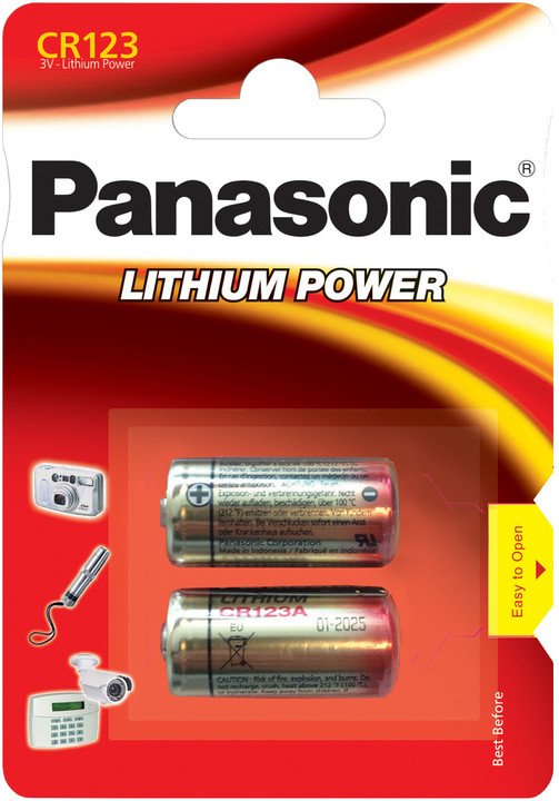 Panasonic baterie CR123 2BP Li
