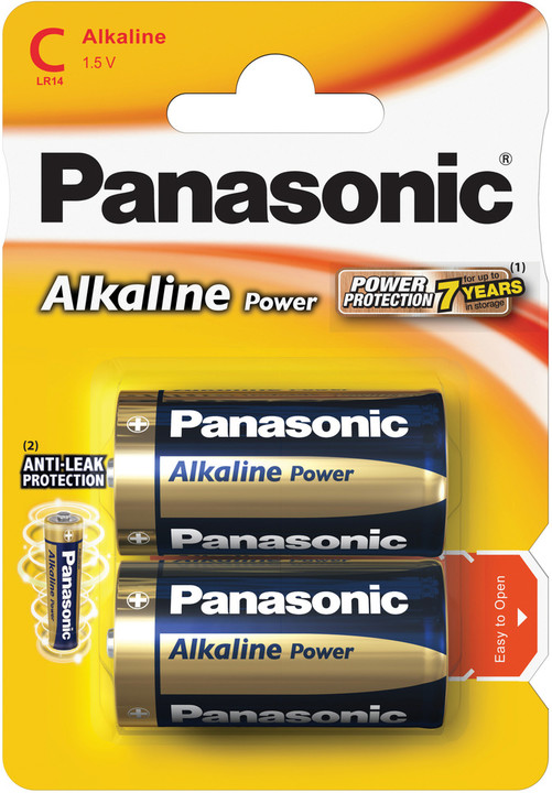 Panasonic baterie LR14 2BP C Alk Power alk