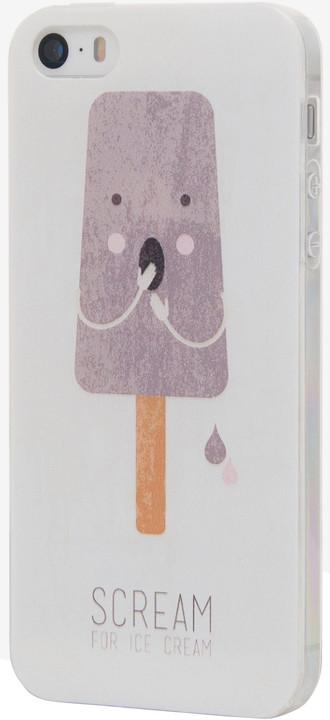 EPICO pružný plastový kryt pro iPhone 5/5S/SE SCREAM