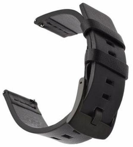 Tactical 598 kožený řemínek pro Huawei Watch GT2, 42mm, černá