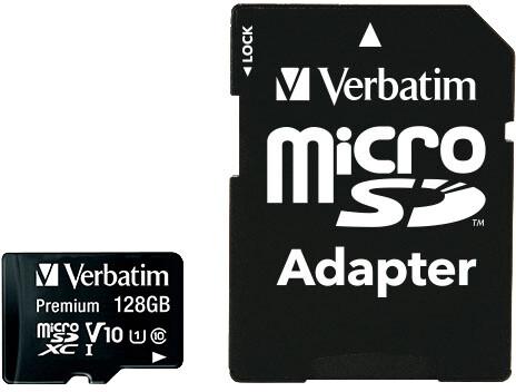 Verbatim MicroSDHC 128GB (Class 10) + SD adaptér