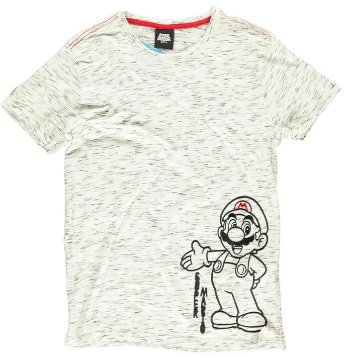 Tričko Super Mario - Space Dye (S)