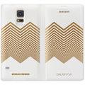 Samsung flipové pouzdro EF-WG900R pro Galaxy S5 (G900), Chevron, bílo-zlatá