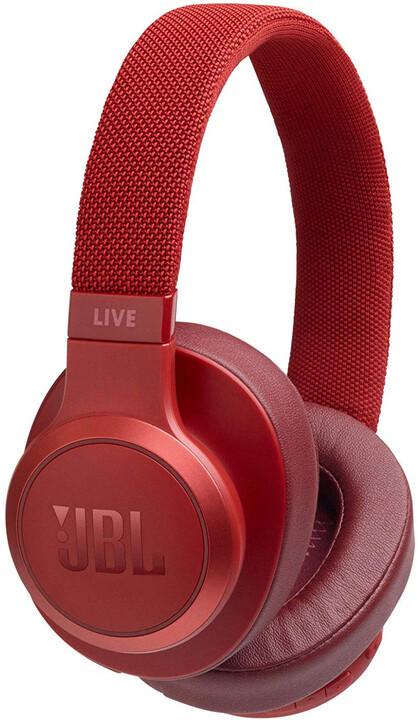 JBL Live 500BT, červená