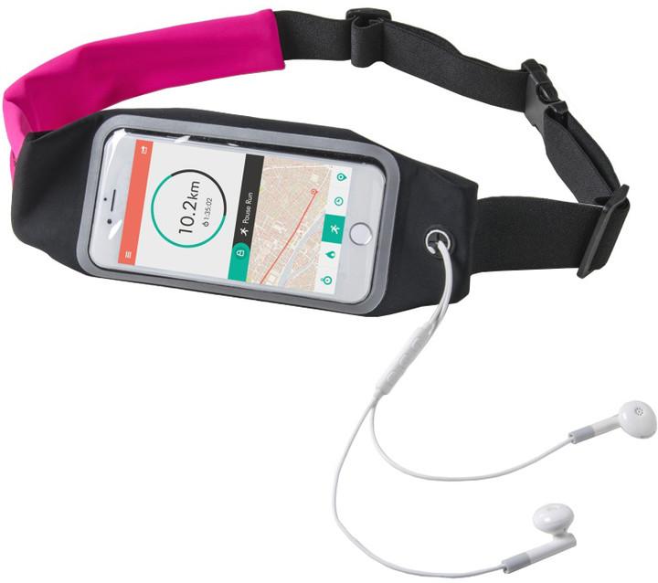 """CELLY RUNBDUO sportovní neoprénové pouzdro, velikost XL pro telefony do 5"""", růžové"""
