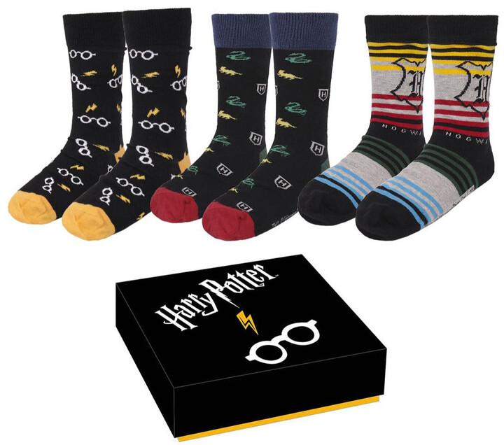 Ponožky Harry Potter - Sada (3 páry, 40/46)