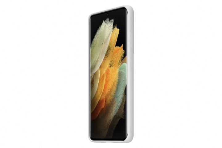 Samsung silikonový kryt pro Samsung Galaxy S21 Ultra, světle šedá