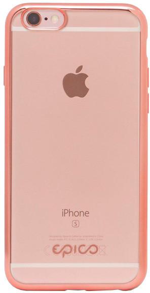 EPICO pružný plastový kryt pro iPhone 6/6S BRIGHT - růžovo-zlatá