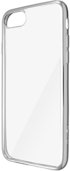 CELLY Laser - pouzdro lemování s kovovým efektem pro iPhone 7, stříbrné