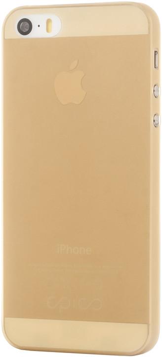 EPICO Plastový kryt pro iPhone 5/5S/SE TWIGGY MATT - zlatý