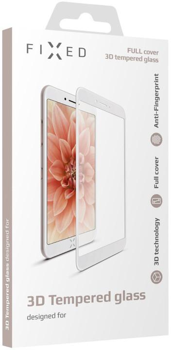 FIXED 3D Full-Cover ochranné tvrzené sklo pro Apple iPhone 6/6S, s lepením přes celý displej, bílé