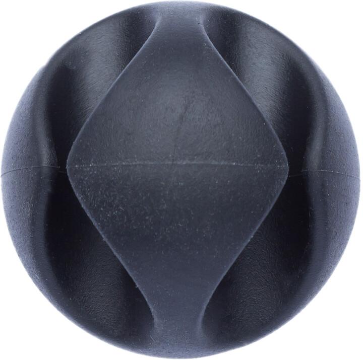 CONNECT IT kabelový klip DOUBLE SPOT, černá