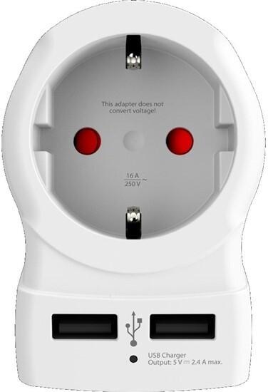 SKROSS cestovní adaptér USA 2x USB pro použití ve Spojených státech