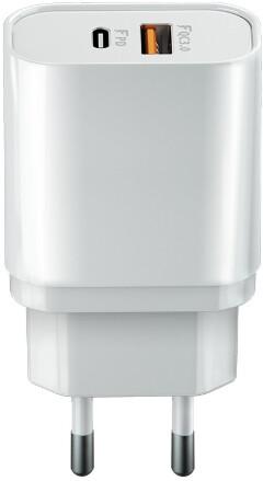 Forever CORE nabíječka USB-C PD a USB QC 3.0, 20W, bílá