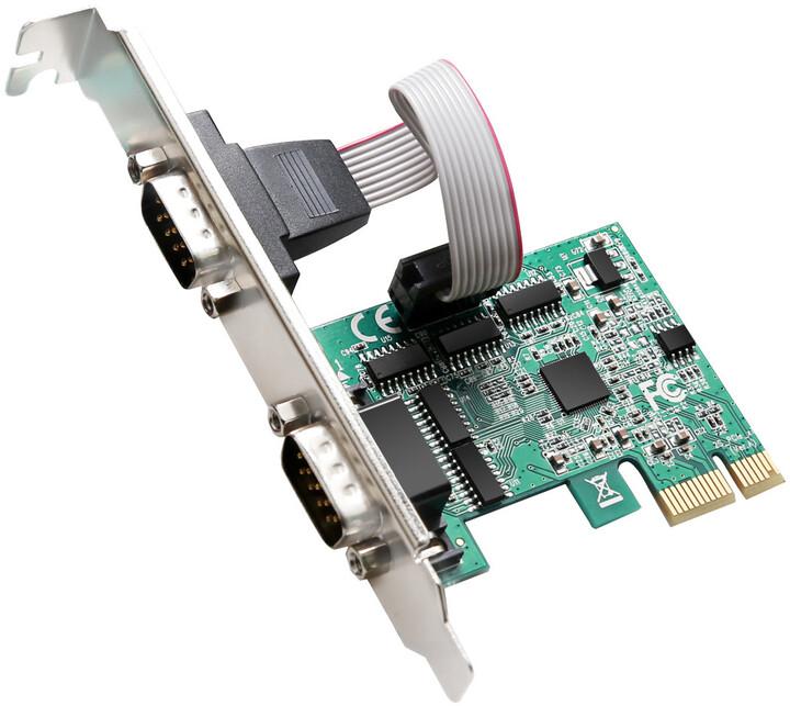 Evolveo 2x Serial 232 PCIe