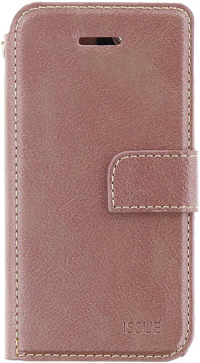 Molan Cano Issue Book Pouzdro pro iPhone 5/5S/SE, růžově zlatá