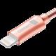 CONNECT IT Wirez Steel Knight Lightning - USB, metallic rose-gold, 2,1A, 1 m
