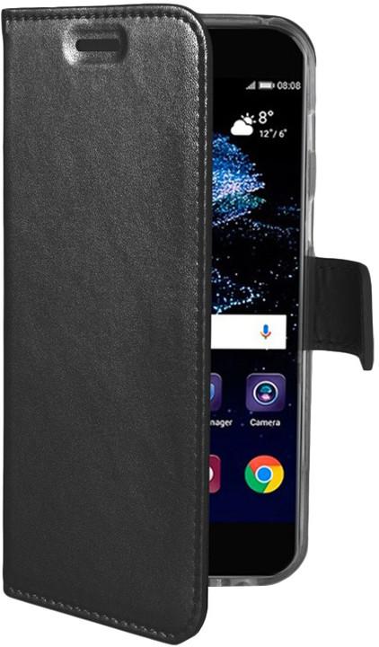 CELLY Air ultra tenké pouzdro typu kniha pro Huawei P10, PU kůže, černé