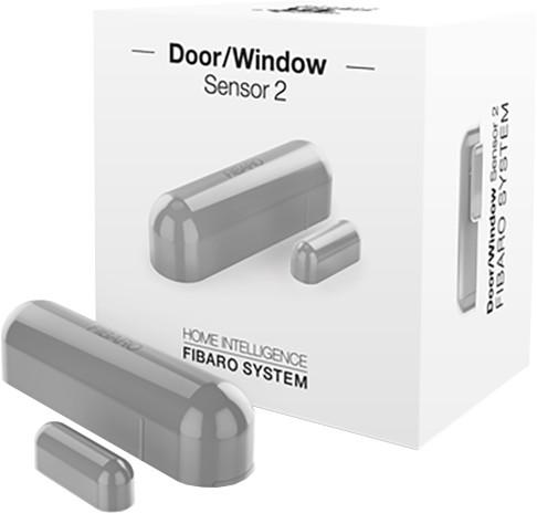 Fibaro bateriový Senzor 2 na okna a dveře, Z-Wave Plus, stříbrná
