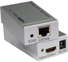 PremiumCord HDMI extender na 60m přes jeden kabel Cat5e/Cat6 - khext60-1