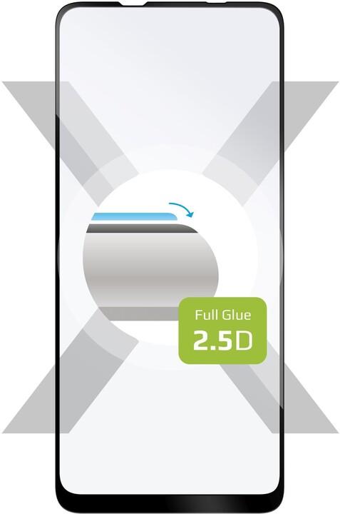 FIXED ochranné tvrzené sklo Full-Cover pro Samsung Galaxy A21s, lepení přes celý displej, černá