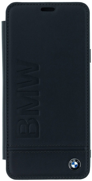 BMW Signature Real Leather Book Case pro Samsung G965 Galaxy S9 Plus - Black