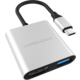 HYPER 3v1 USB-C Hub 4K HDMI, stříbrný