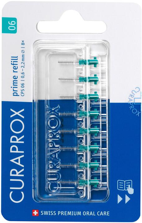 Mezizubní kartáček CURAPROX CPS06 prime refill, 8ks, tyrkysová