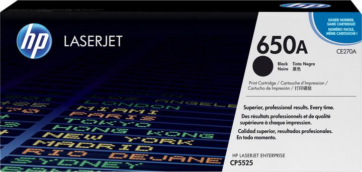 HP CE270A, černý