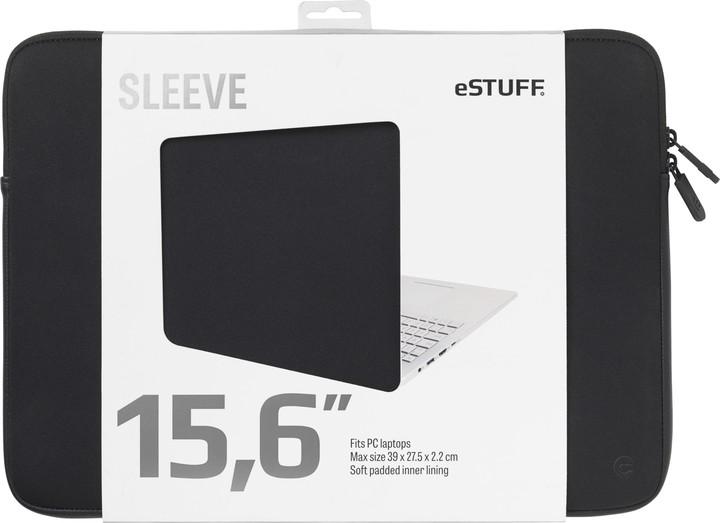"""eSTUFF pouzdro na notebook 15,6"""", černá"""