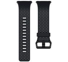 Fitbit Ionic perforovaný kožený řemínek Midnight Blue - velikost L FB164LBNVL