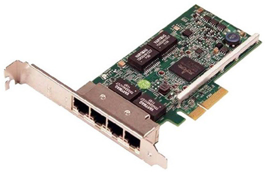 Dell 4-portová síťová karta 1 GbE - Broadcom 5719 QP, PCIe, low profile