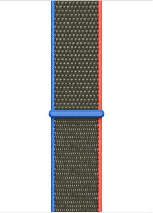 Apple řemínek pro Watch Series, provlékací, sportovní, 44mm, olivová