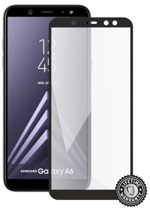 Screenshield ochrana displeje Tempered Glass pro Samsung Galaxy A6 (full cover), černá