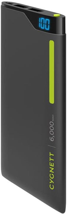 Cygnett Power Bank 6000mAh, green/grey