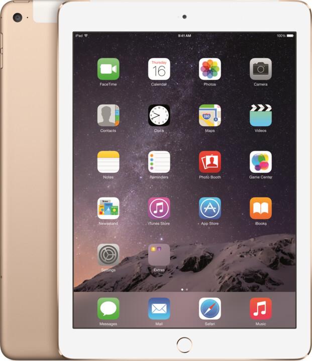 APPLE iPad Air 2, 64GB, Wi-Fi, 3G, zlatá