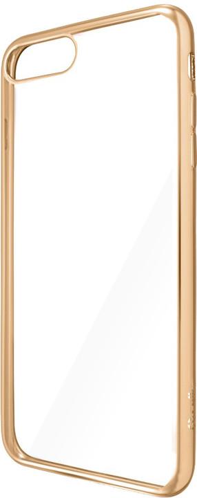 CELLY Laser - pouzdro lemování s kovovým efektem pro iPhone 7 Plus, zlaté