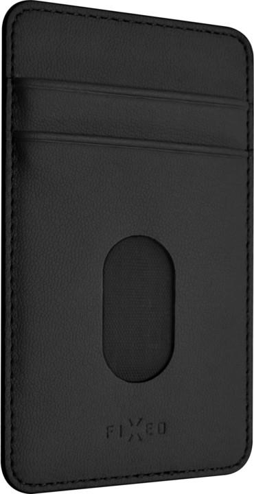 FIXED Nalepovací kapsa Caddy pro 2 kreditní karty, černá