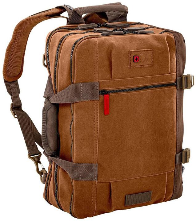 """WENGER MANDRIA - 15,6"""" brašna / batoh na notebook a tablet nebo čtečku, camel"""