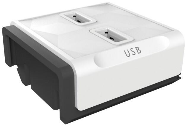PowerCube modulární zásuvkový systém Module, 2xUSB, bílá