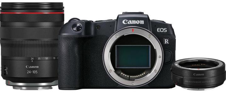 Canon EOS RP + RF24-105 L + EF-EOS R adaptér