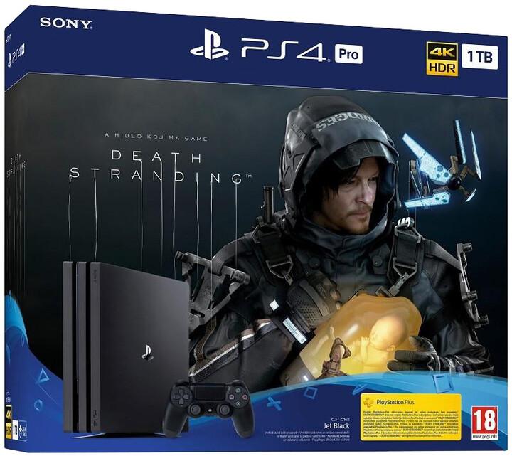 PlayStation 4 Pro, 1TB, Gamma chassis, černá + Death Stranding