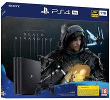 PlayStation 4 Pro, 1TB, Gamma chassis, černá + Death Stranding - PS719314707 + God of War (PS4) v ceně 500 Kč