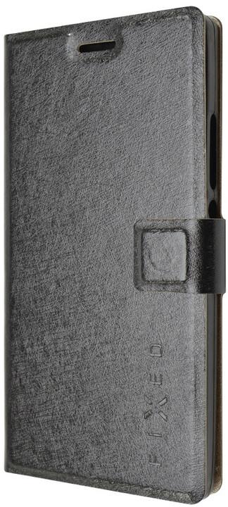 FIXED s gelovou vaničkou pouzdro pro Huawei Ascend P7, černá