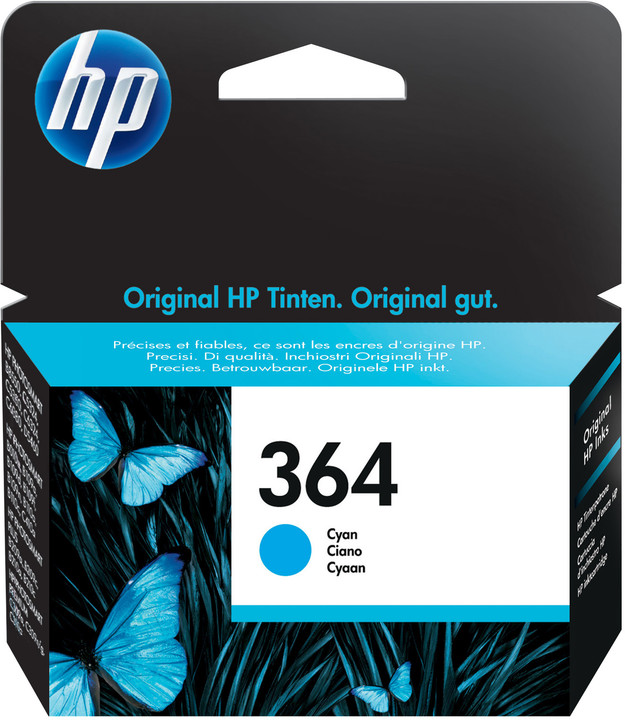 HP CB318EE, č. 364, azurová