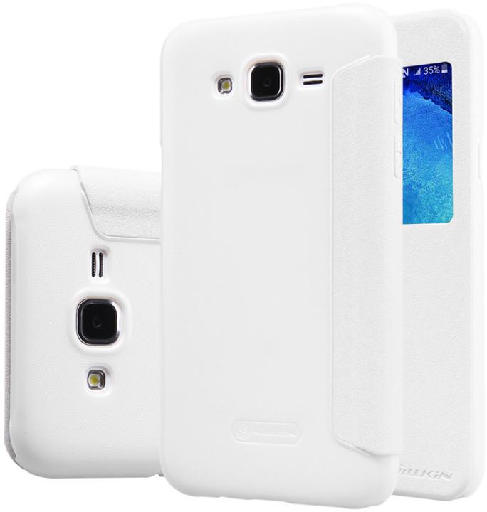 Nillkin Sparkle S-View pouzdro pro Samsung J500 Galaxy J5, bílá